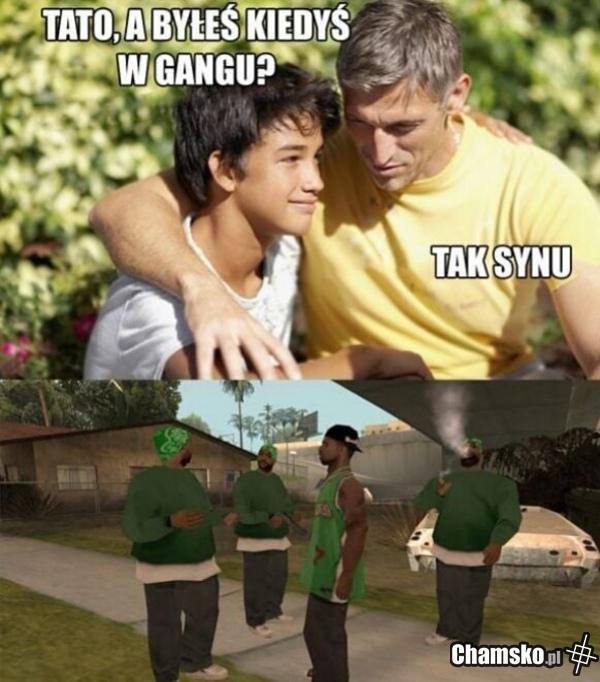 Ty też byłeś w gangu?