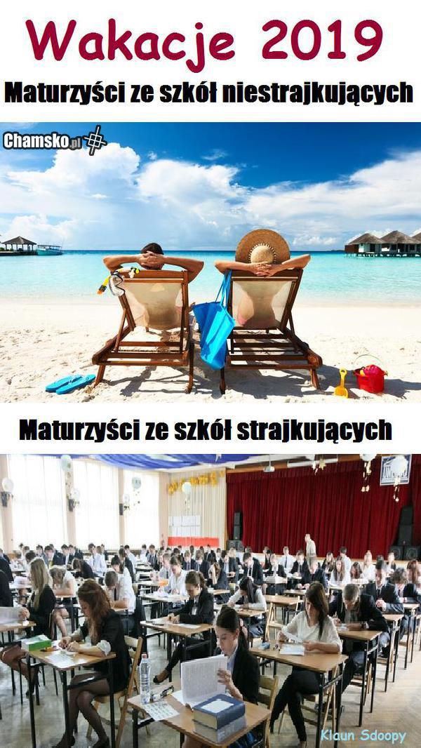 Maturzyści na wakacjach